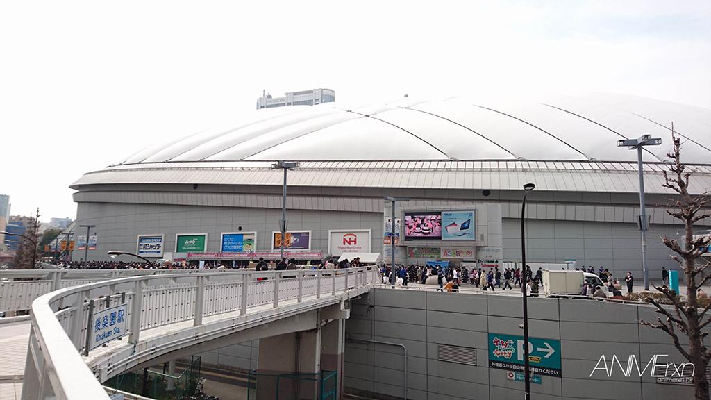 Tokyo dome outside